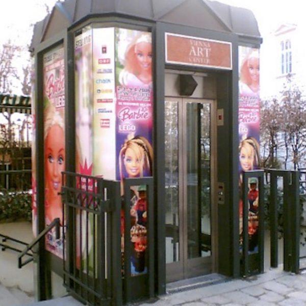 Glasfolien: Aufzug